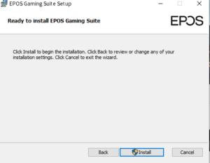 EPOS GSX300 ソフトウェアセットアップ2