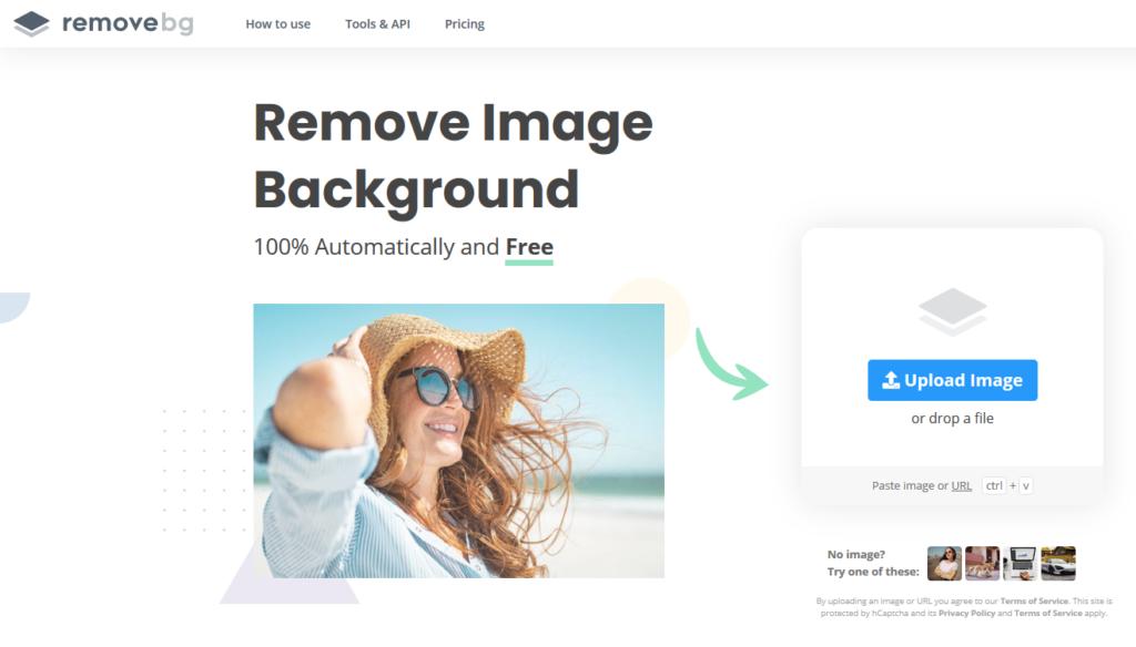 remove.bgのサイト